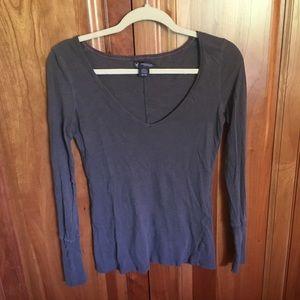 American Eagle Outfitters Tops - V-Neck Long Sleeve American Eagle Shirt